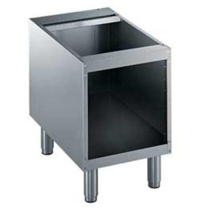Diamond Open Onderstel RVS | 400mm | Poten Regelbaar | 400x550x600(h)mm