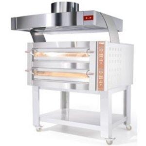 Diamond Edelstahlhaube mit Motor | Ofen 9 und 18 Pizzas | 1560x1230x500 (h) mm