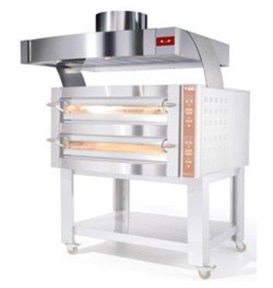Diamond Dampkap RVS Met Motor   Oven 9 & 18 Pizza's   1560x1230x500(h)mm