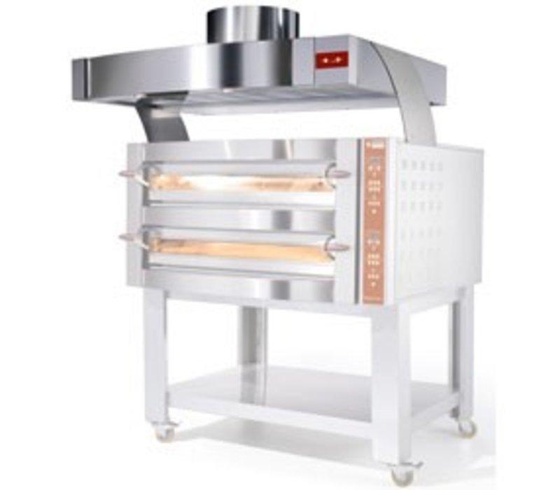 Diamond Dampkap RVS Met Motor | Oven 6 & 12 Pizza's | 1200x1230x500(h)mm