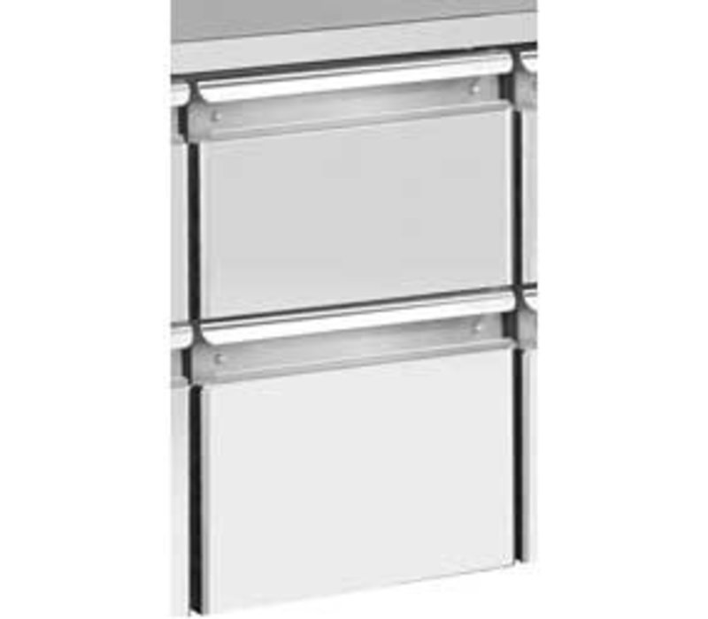 Diamond Pedestal 2 drawers (1/2 + 1/2 h200) for TG and TS