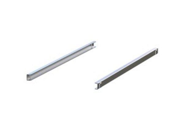 Diamond Stainless steel rails (Right & Left) | 562x25 (h) mm