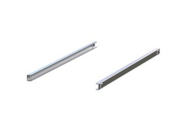 Diamond Stainless steel rails (Right & Left) Front BMIV ... TP | 462x25 (h) mm