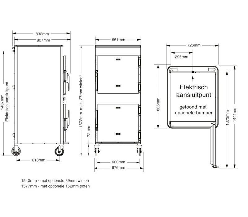 Alto Shaam Raucher   Alto Shaam 1767-SK / III   Elektrizität   6,2kW   Max. 45kg jedes Fach