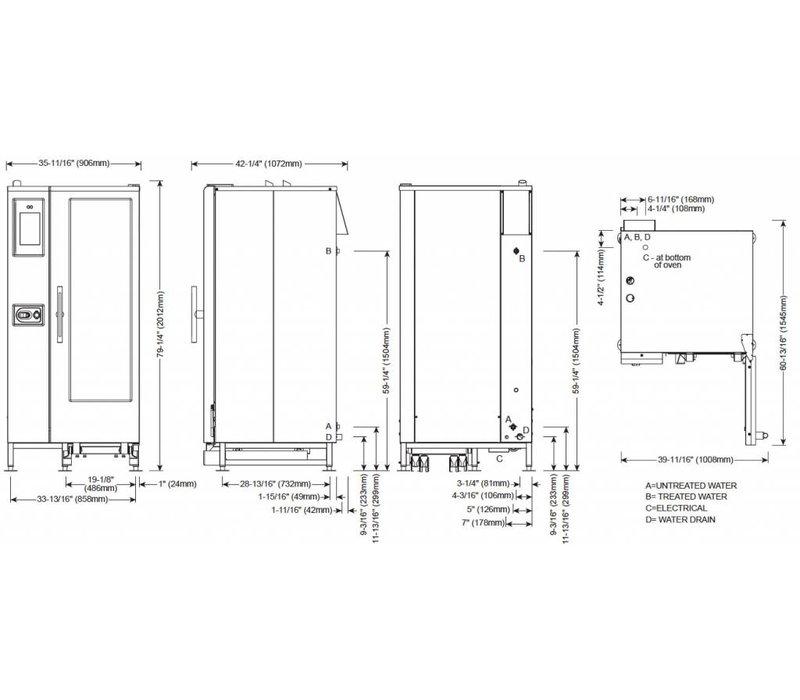 Alto Shaam Combi Therm Ofen | Kombidämpfer | Alto Shaam CTP20-10E | Elektrizität | 37,8kW | 20x1 / 1 GN
