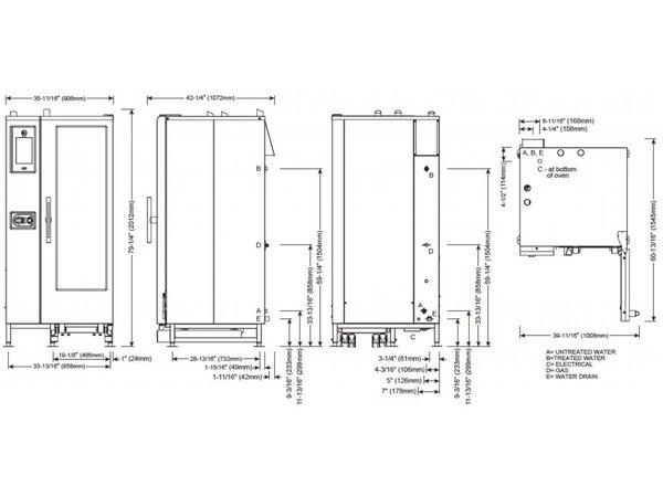Alto Shaam Combitherm Oven | Combisteamer | Alto Shaam CTP20-10G Proformance | Gas| 2kW | 20x1/1GN