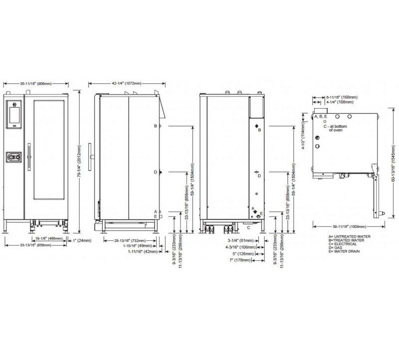 Alto Shaam Combi Therm Ofen | Kombidämpfer | Alto Shaam CTP20-10G Proformance | Gas | 2 kW | 20x1 / 1 GN