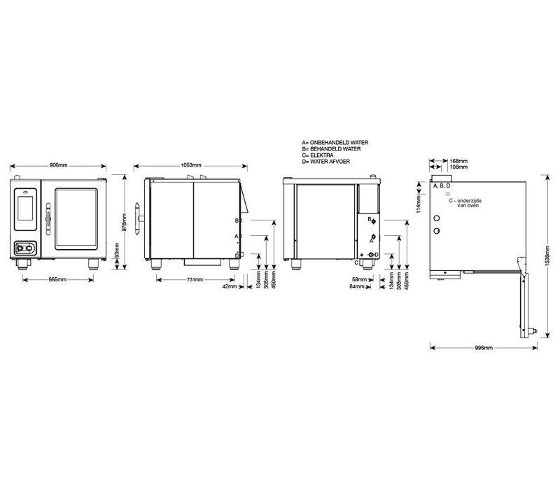 Alto Shaam Combi Therm Ofen   Kombidämpfer   Alto Shaam CTP6-10E Proformance   Elektrizität   10,5kW   6 x1 / 1GN