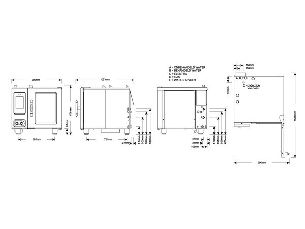 Alto Shaam Combitherm Oven | Combisteamer | Alto Shaam CTP6-10G Proformance | Gas | 1kW | 6 x1/1GN