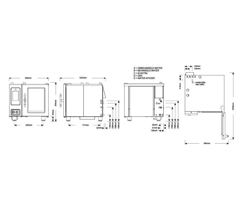 Alto Shaam Combi Therm Ofen | Kombidämpfer | Alto Shaam CTP6-10G Proformance | Gas | 1kW | 6 x1 / 1GN