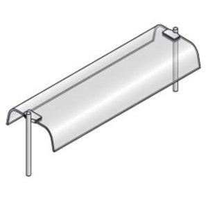 Diamond Bovenstructuur Met Gebogen Ruit | Dubbel | 1440x460x400(h)mm