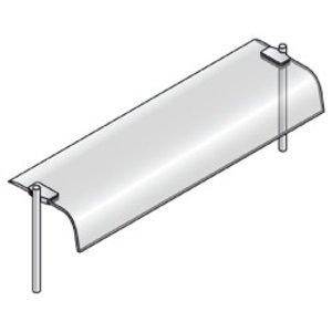 Diamond Bovenstructuur Met Gebogen Ruit | 1440x360x400(h)mm