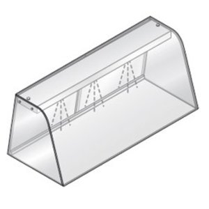 Diamond Vitrine mit Beleuchtungselement (Neon)   Mit Schiebe   1440x684x460 (h) mm