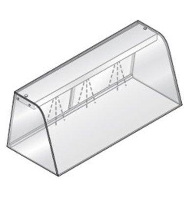 Diamond Vitrine Met Verlichtingselement (Neon) | Met Schuifdeuren | 1440x684x460(h)mm