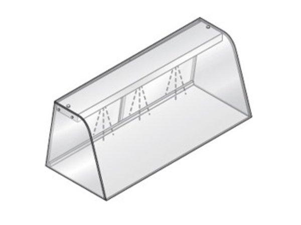 Diamond Vitrine mit Beleuchtungselement (Neon) | Mit Schiebe | 1440x684x460 (h) mm