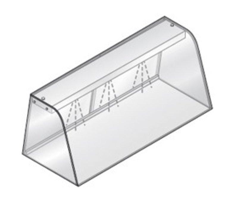Diamond Vitrine Met Verlichtingselement (Neon)   Met Schuifdeuren   1440x684x460(h)mm
