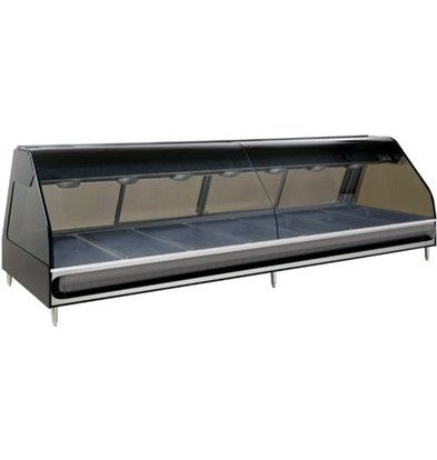 Alto Shaam Heated display case | Alto Shaam ED2-96 / PR Black | Right half Self Service | opening 603mm
