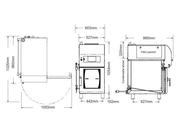 Alto Shaam Combi Therm Ofen | Kombidämpfer | Alto Shaam CTX4-10EVH | Elektrizität | 7,67kW | 10 x1 / 1GN