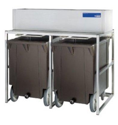 Diamond Storage Bins With Wheels   2x 108kg (ICE155MA)