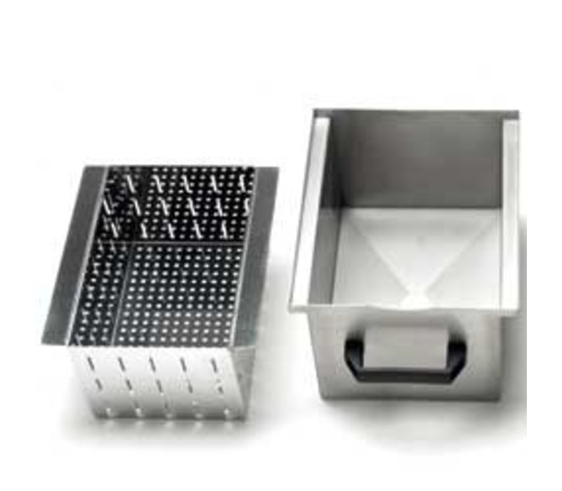 Diamond Optional: Stainless steel Bin With Filter For Disposal (10-18kg)