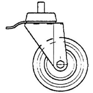 Diamond Turn Wheel Stainless Steel With Brake - Ø100mm