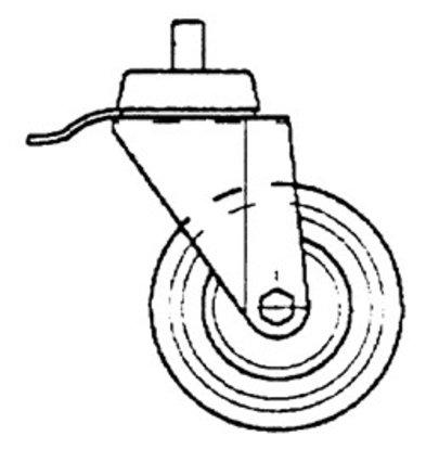 Diamond Schalten Rad-Edelstahl mit Bremse - Ø 100mm