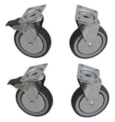 Diamond Set 4 Wheels SS - 2 with brake