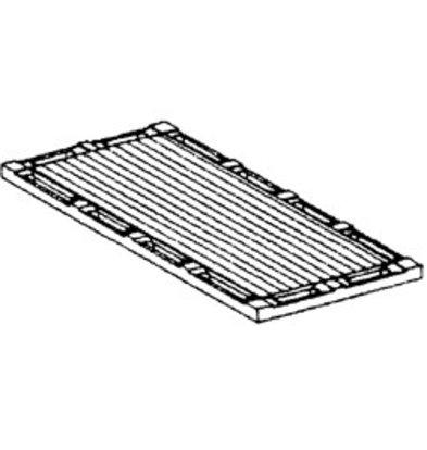 Diamond Kookplaat Geribbeld | Voor 2 Branders | 340x600x400(h)mm