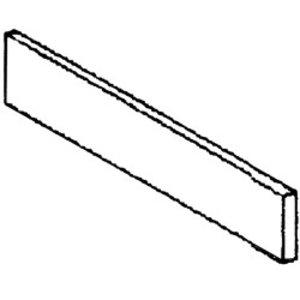 Diamond Plint RVS | Lateraal Links | 570x110x20(h)mm