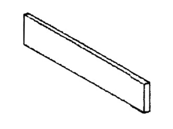 Diamond Edelstahl-Sockel | Seitliche Links | 570x110x20 (h) mm