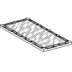 Diamond Gladde Kookplaat Voor 2 Branders   340x600x40(h)mm