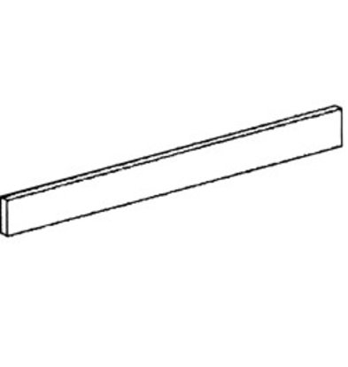 Diamond Frontal Sockel aus Edelstahl   400x110x20 (h) mm