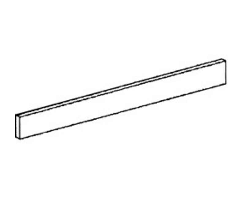 Diamond Frontal Sockel aus Edelstahl | 400x110x20 (h) mm