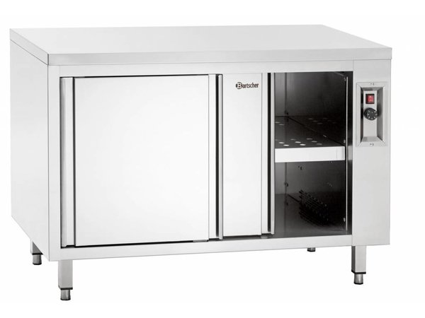 Bartscher Hot cupboard with sliding doors and intermediate shelf - 2kW - 200x70x (h) 85 / 90cm