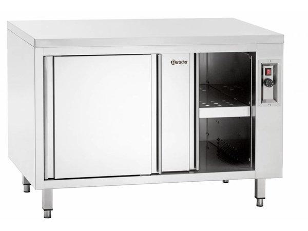 Bartscher Wärmeschrank mit Schiebetüren und Zwischenboden - 2 kW - 200x70x (h) 85 / 90cm