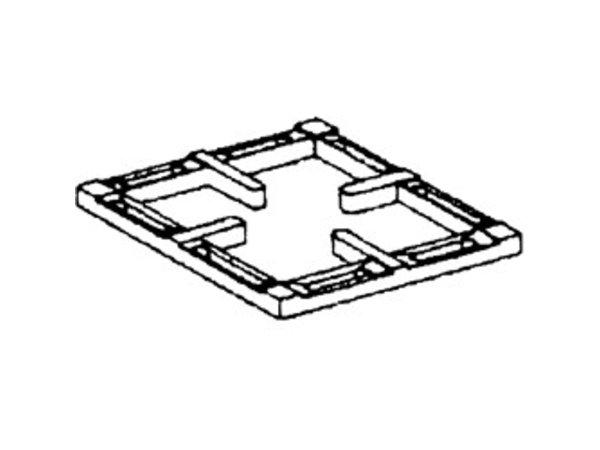 Diamond Black Cast Iron Grate | 1 Burner | 300x340x40 (h) mm