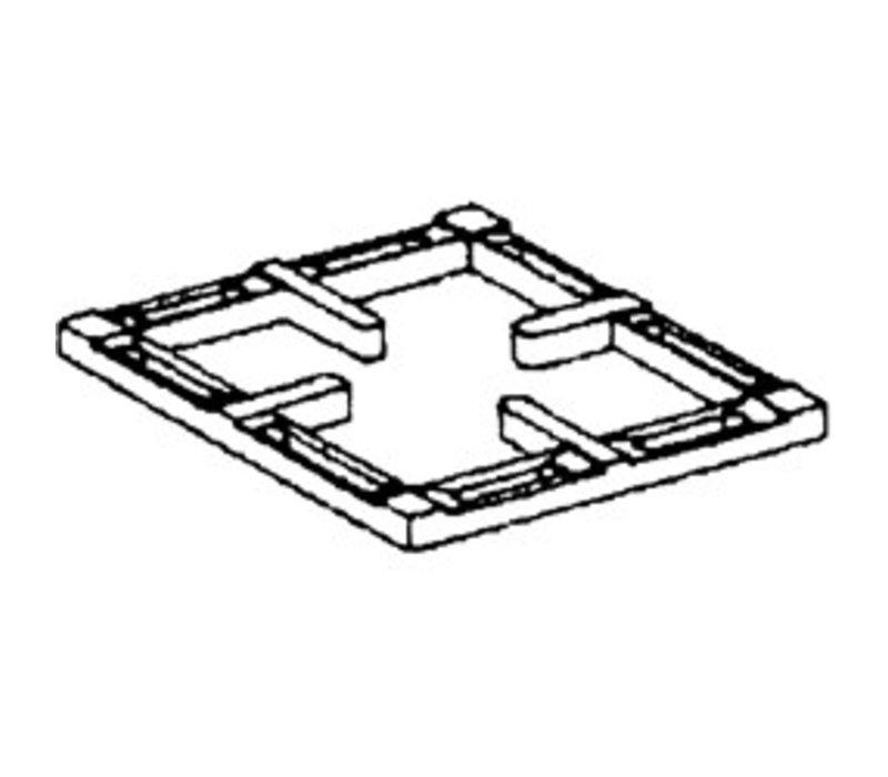 Diamond Zwart Gietijzeren Rooster | Voor 1 Brander | 300x340x40(h)mm