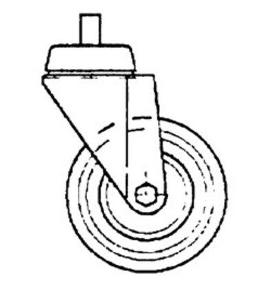 Diamond Stainless steel wheel with brake | ø100mm