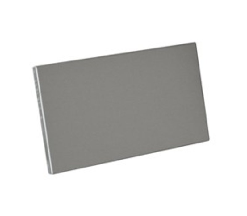 Diamond Lateral Plinth stainless steel   Left & Right   175x515 (h) mm