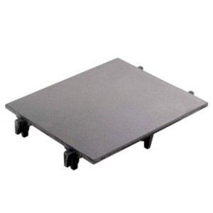 Diamond Gladde Kookplaat Voor 1 Brander   300x340x50(h)mm