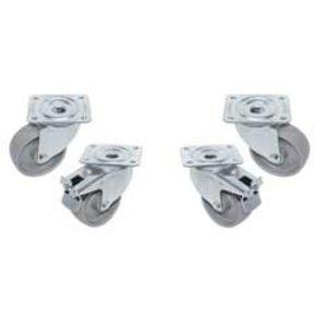 Diamond Kit 4 Castors For Cabinet | ø100mm