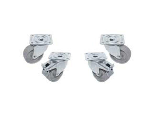 Diamond Kit 4 Zwenkwielen Voor Kast | Ø100mm