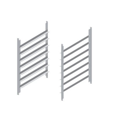 Unox Set guides for Chassis | XWALC-07EF-H | 7 600x400mm