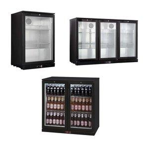XXLselect Bar fridges / coolers Bottles - Black - 3 Sizes - 1/2/3 Doors - 138L - 208L - 330L