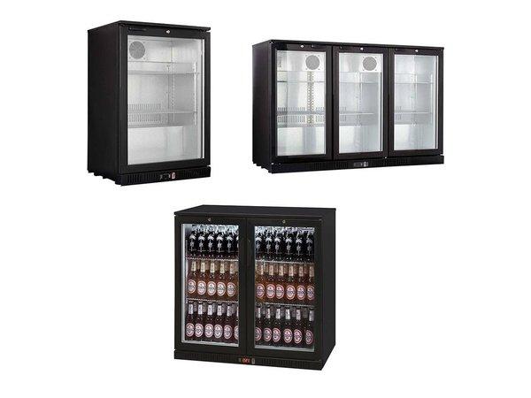 XXLselect Bar koelkasten / Flessenkoelingen - Zwart - 3 Maten - 1/2/3 Deurs - 138L - 208L - 330L