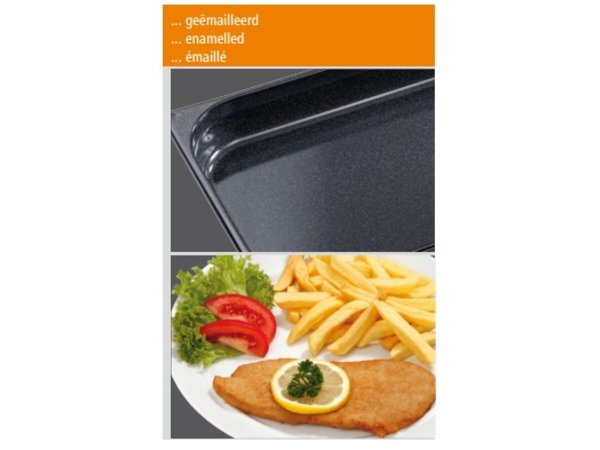 Bartscher GN container 1/1 - GN - 65 mm - deep enamelled | 325x530mm