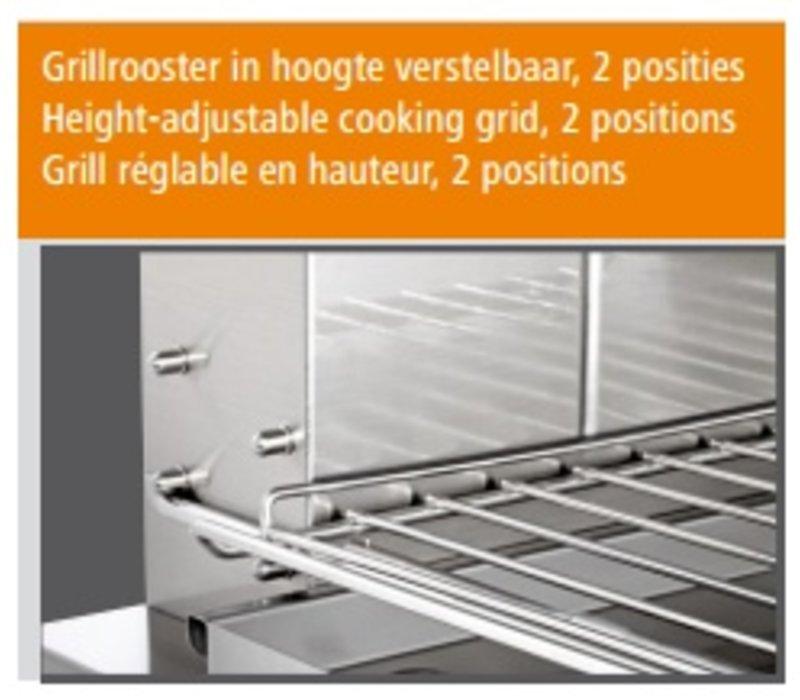 Bartscher Salamander - 1 grid - with Lift - 57x54x (h) 51.5cm - 4.5KW
