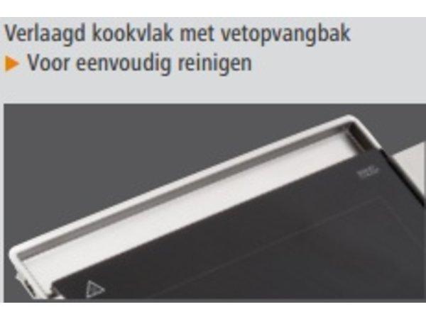 Bartscher Elektrische Grillplaat - Glad - 64x36x(h)6cm - 1,2kW