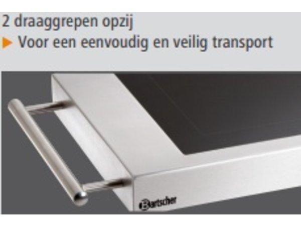 Bartscher Electric Griddle - Smooth - 64x36x (h) 6cm - 1,2kW