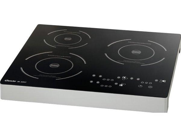 Bartscher Induction cooker IK 3341 | 3 Hobs separately adjustable | 510x485x (H) 65mm